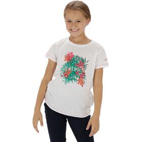 Regatta Bosley - T-shirt manches courtes Enfant - blanc/turquoise